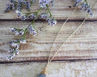 Labradorite gemstone antiquated gold chain