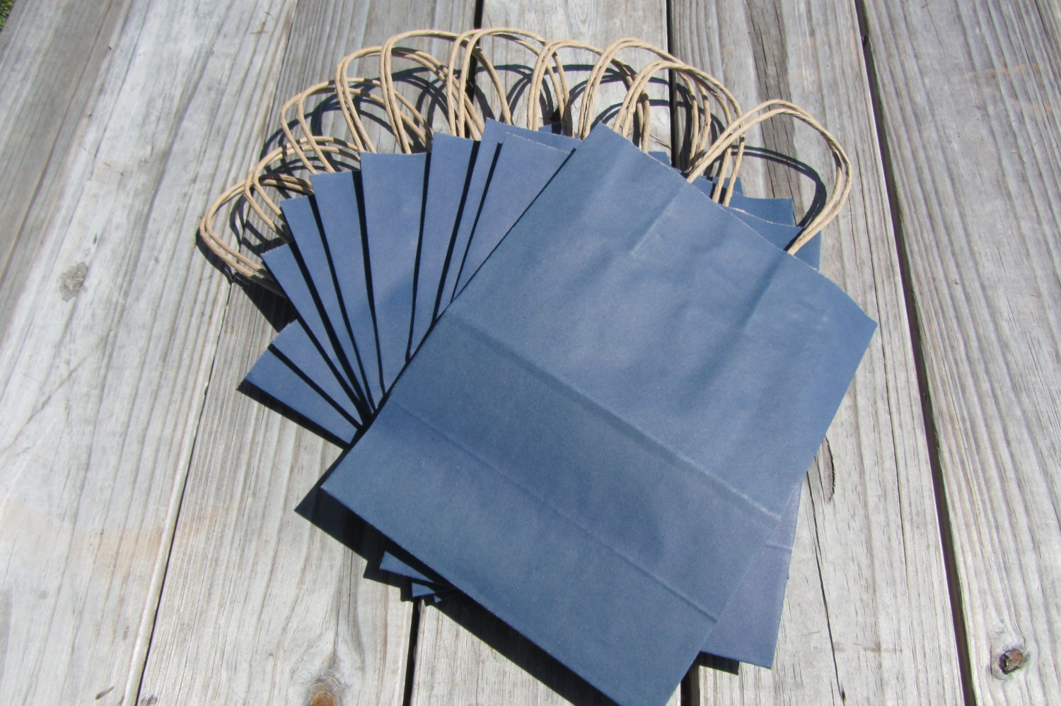 20 pack navy blue kraft gift bagswedding welcome bags zoom jeuxipadfo Choice Image