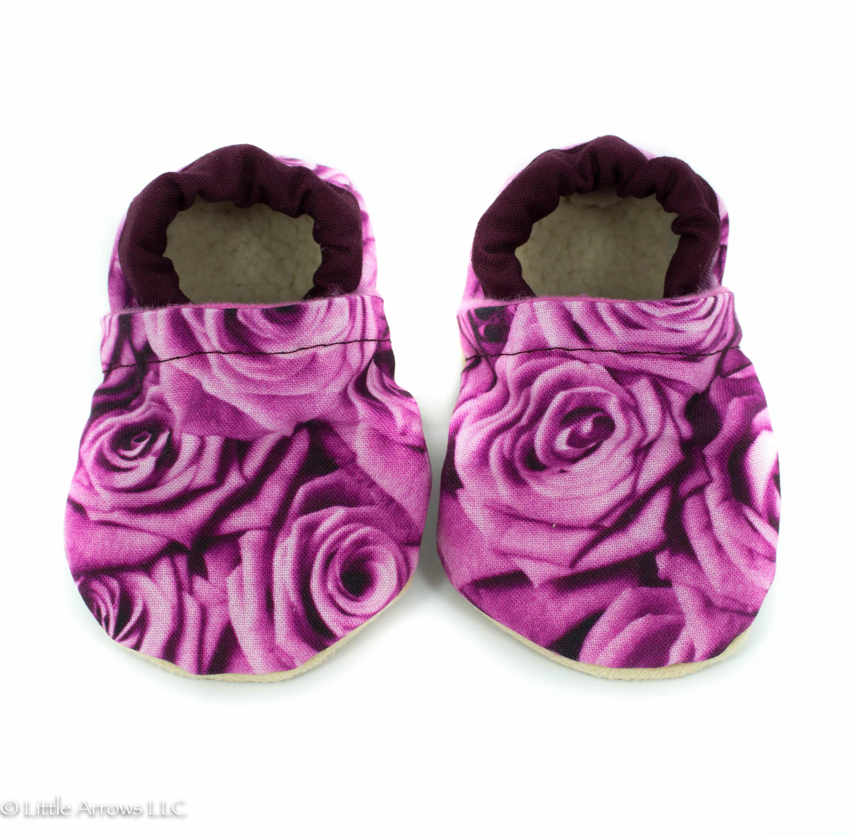 Pink Rose Baby Shoes baby shoes vegan baby moccs crib