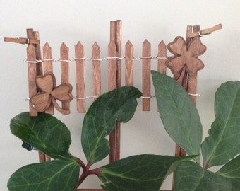 Houseplant Trellis for Plant Support- With Clovers