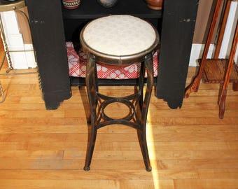 Vintage Kitchen or Bar Stool Padded Seat Rustic Farmhouse Decor