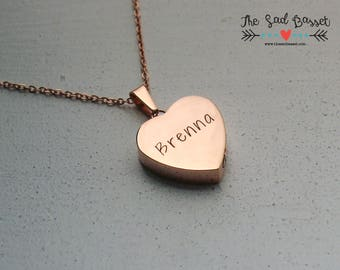 Personalized Rose Gold Cremation Urn Pendant | Hand Stamped Cremation Jewelry | Urn Necklace | Memorial Jewelry | Remembrance Jewelry | Pet