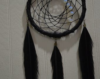 Dreamcatcher, Opalite and Black Pheasant Feathers