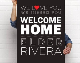 Printable Personalized Welcome Home Return Missionary Poster, Banner, Sign, LDS Missionary,