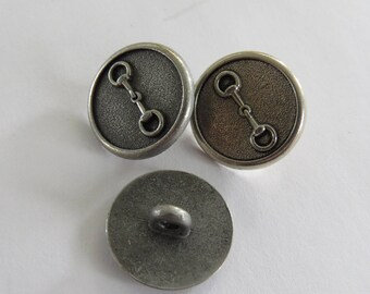 Button * silver plated brass