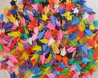 500 Multicolored Small Japanese Origami Crane Paper Crane Origami Paper Cranes folded crane folded bird