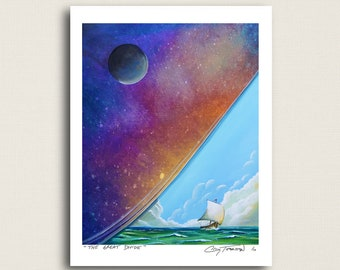 The Great Divide - a ship at sea - Limited Edition Signed 8x10 Semi Gloss Print (7/10)