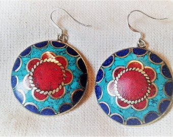 Ethnic earrings chic Nepal Tibet