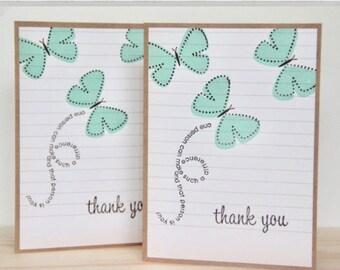 Teacher Thank You Card. Teacher Appreciation Card. Butterfly Thank You Card.  Card for Teacher. Handmade Teacher Card.  Greeting Card