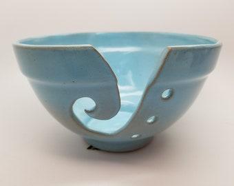Medium Powder Blue Yarn Bowl Ready to Ship