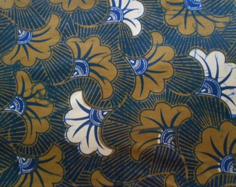 coupon of African fabric, real wax coupon, 45 cm x 116 cm