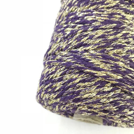 Metallic Macrame Cord VIOLET LIGHT 4mm 100m