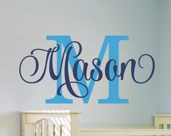 Perfect Boys Name Wall Decal Boys Name Decal Boys Bedroom Baby Boy Nursery Wall  Decor Personalized Bedroom
