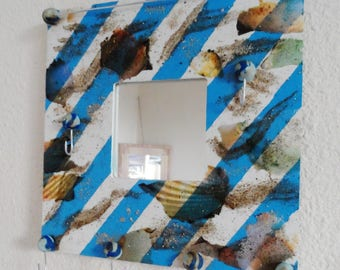 Wall organizer blue and white sailor