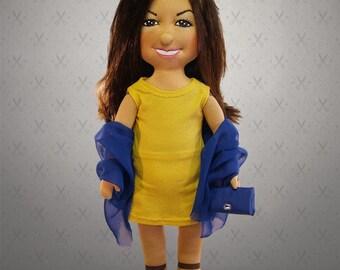 57 cm tall custom doll, Giant Selfie doll - personalized doll, rag doll, art doll, character doll,