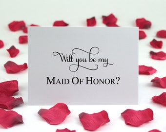 Choice Of Will You Be My Cards, Wedding Bridal Party Cards, Proposal Card For , Maid Of Honor, Matron Of Honor, Flower Girl, Ring Bearer
