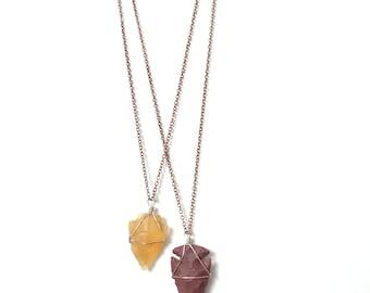 Arrowhead Necklaces  (Carnelian/Jasper)