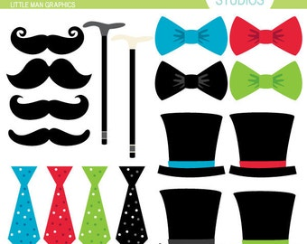 Little Man Graphics - Clip Art Set Digital Elements for Cards, Stationery and Paper Crafts and Products
