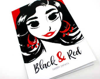 Black & Red Inktober book