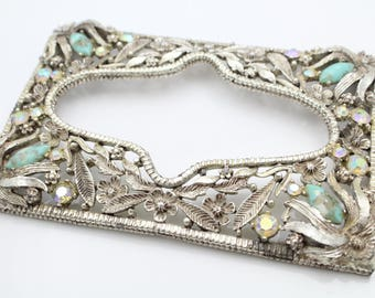 Vintage Hollywood Glam Wall Switchplate Cover With Rhinestones. [11640]