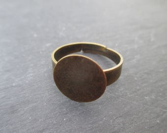 Bronze ring tray 12.5 mm size adjustable * 2