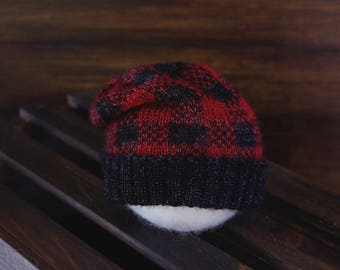 Slumber Jack - Newborn Plaid Slouch Hat