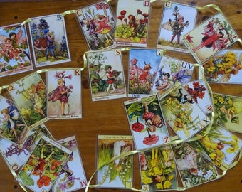 Flower Fairies Alphabet Bunting