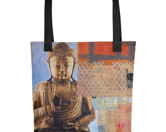 Buddha Mind Modern Art Tote Bag