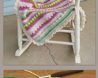 Baby Blanket Pattern - Crochet Baby Blanket Pattern - CROCHET PATTERN - Confetti Baby Blanket - Crochet Patterns by Deborah O'Leary