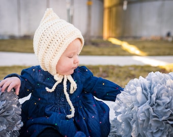 Knit Hat, Winter Hats, Baby Girl Clothes, Baby Girl Hat, Bonnet, Knit Bonnet, Knit Baby Bonnet, Crochet Hat, Winter Hat Kids,