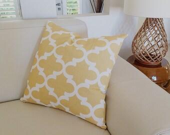 Cushions Saffron Yellow Moroccan Style, Cushion Cover Throw Cushions, Coastal Cushions Modern Beachy Cushion Lemon, Blue.