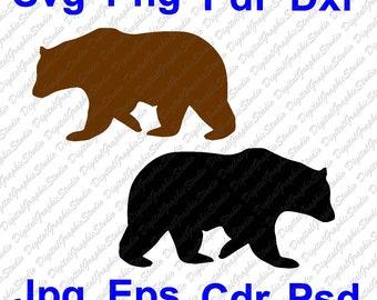 70 off commercially usable bear svg bear clipart bear outline bear - Outline Of A Bear