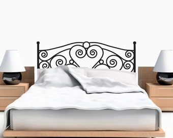 Scroll Headboard Decal   Full Size   Headboard Wall Decal