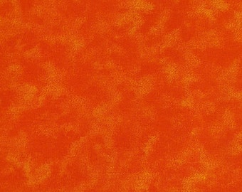 "Poppy Orange Blender 108"" wide back 100% cotton fabric"