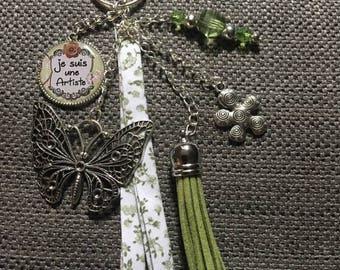 """key / jewelry bag """"I'm an artist"""""""