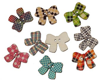 SET of 5 buttons bow