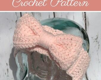Samantha Ear Warmers | Crochet Pattern | Crochet Bow Ear Warmers Pattern | Crochet Ear Warmers | Bow Ear Warmers Teens/Adult | PDF Pattern