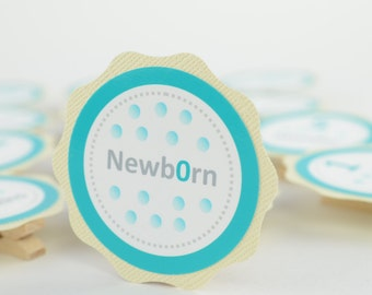 Aqua Polka Dots 12 Month Banner, First Year Photo Banner, First Year Banner, Birthday Party, Aqua Polka and Ivory, c-1103
