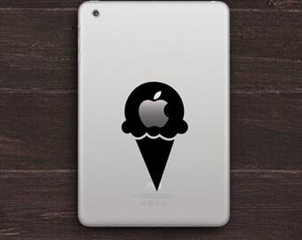 Apple Ice Cream Cone Vinyl iPad Decal BAS-0275