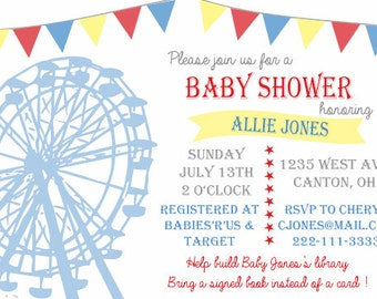 County Fair/Carnival Baby Shower Invitation