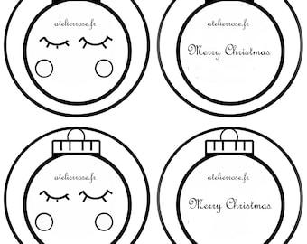 fabric pattern Christmas ornament