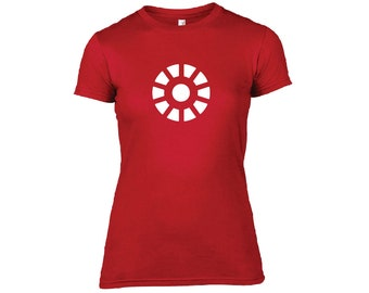 Arc Reactor Ladies Tshirt inspired by Marvels Iron Man and The Avengers