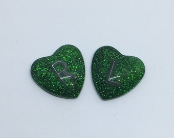 Emerald Green Holo Glitter X-Ray Markers (One Pair)