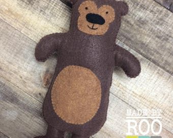 Woodland Friends Stuffie - Grizzly Bear
