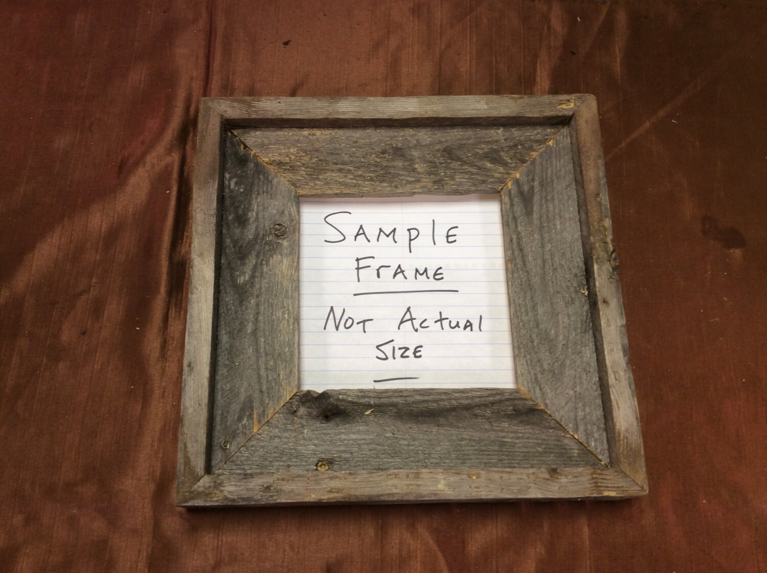 22x22 standard barn wood picture frame zoom jeuxipadfo Images
