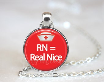 RN = Real Nice Changeable Magnetic Pendant with Organza Bag