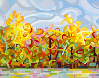 Small Fine Art Poster Print of an Original Abstract Acrylic Painting - The Tangled Shore