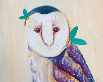 Woodland Owl Print