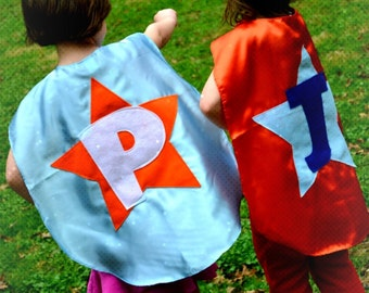 2 Superhero Capes Costume Kid Capes Custom cape Personalized  seen on GMA