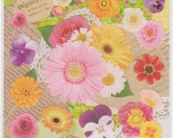 Flower Stickers - Petit Poche Mind Wave Stickers - Reference A4179-80